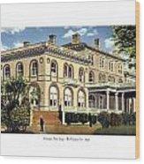 Princeton New Jersey - The Princeton Inn - 1925 Wood Print