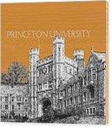 Princeton University - Dark Orange Wood Print
