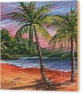 Princeville Kauai Wood Print by Darice Machel McGuire
