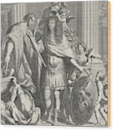 Print Of Aegidius Le Maistre 1665, Upper Part Wood Print