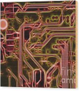 Printed Circuit - Motherboard Wood Print