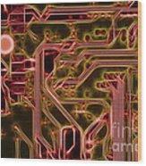 Printed Circuit - Motherboard Wood Print