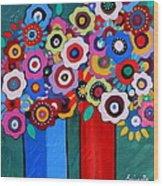 Prisarts Florals II Wood Print