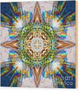 Prism Rainbow Mandala Wood Print