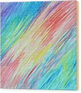 Prismatic Shore Wood Print
