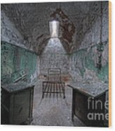 Prison Cell At Eastern State Penitentiary Wood Print