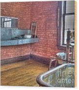 Prisoner's Bath And Laundry Wood Print by MJ Olsen