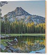 Pristine Alpine Lake Wood Print