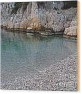 Pristine Water At Calanque D'en Vau In Cassis France Wood Print