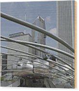 Pritzker South Facade Vertical Wood Print