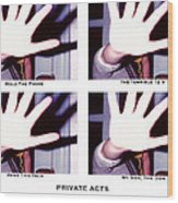 Private Acts Wood Print