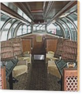 Private Dome Rail Car  Wood Print