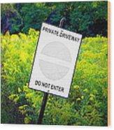Private Driveway Wood Print