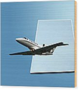 Private Jet Chicago Airplanes 14 Wood Print