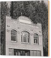 Private Wilkeson Town B And W Wood Print