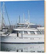 Private Yacht Wood Print