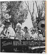 Pro-viet Nam War March Beaver's Band Box Musicians Tucson Arizona 1970 Black And White Wood Print
