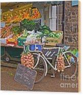 Produce Market In Corbridge Wood Print