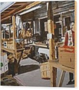 Produce Market Wood Print