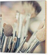 Professional Makeup Brush Wood Print