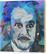 Professor Einstein Wood Print