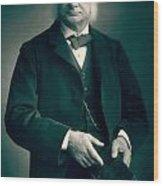 Professor Thomas H Huxley Wood Print
