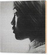 Profile Of A Young Woman In Turban Wood Print