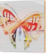 Profound Thought Butterfly Wood Print