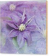 Profusion Of Purple Wood Print