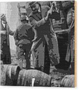 Federal Prohibition Agents Destroy Liquor 1923 Wood Print