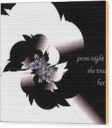 Prom Night Haiga Wood Print
