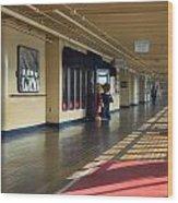 Promenade Deck Queen Mary Ocean Liner 01 Wood Print