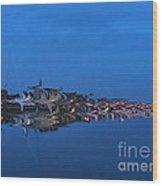 Promenade In Blue  Wood Print