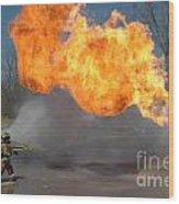 Propane Burn Wood Print by Steven Townsend