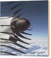 Propeller Movement Wood Print
