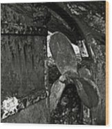 Propeller Of An Old Abandoned Ship Wood Print