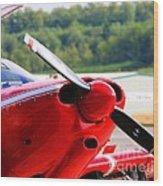 Airplane Propeller Wood Print