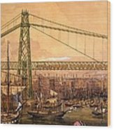 Proposed Railway Bridge Wood Print
