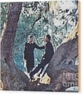 Proposing In A Tree Wood Print