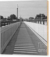 Prosser Bridge Perspective - Black And White Wood Print