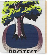 Protect Your Parks Wpa Wood Print