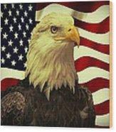 Proud American Wood Print