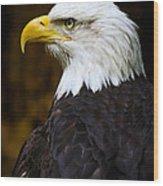 Proud Eagle Profile Wood Print