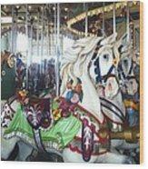 Proud Prancing Ponies Wood Print
