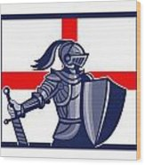 Proud To Be English Happy St George Day Card Wood Print