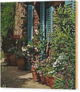 Provencal Alley Wood Print