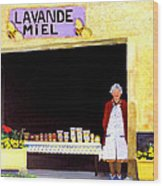 Provence Honey Shoppe Wood Print