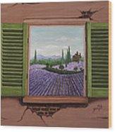 Provence Lavander Fields Original Acrylic Wood Print