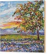 Provence Lavender Fields Wood Print
