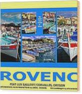 Provence Poster Wood Print